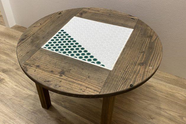 タイル テーブル 円卓 サスティナブル